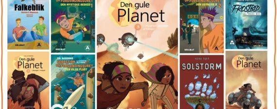 Bøgerne om klima er målrettet børn og unge, og giver dem et fremtidsscenarie, hvor verden fungerer. Foto: KRABAT