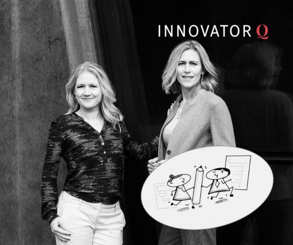 Innovator Q-stafetten om diversitet har været i gang hele foråret. Innovator Q's stiftere er Tine Cederstrand (tv) og Trine Askholm (th). Foto: Stine Heilmann