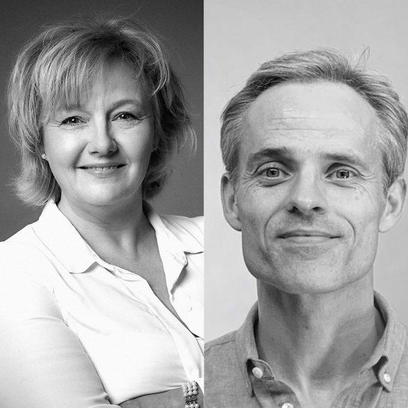 Marianne Andersen, Forkvinde hos High5Girls (th) og Rune Nørager. Direktør. Design Psykologi (tv) Foto: Pressefoto