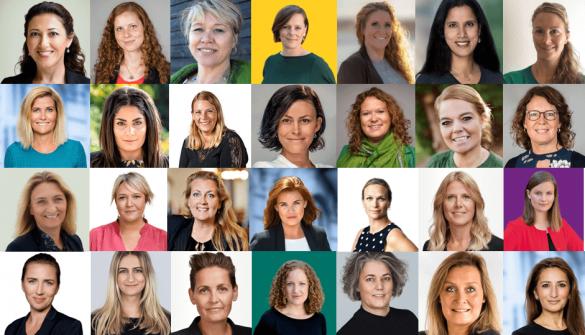 Et udvalg af de kvindelige kandidater til valget 2019