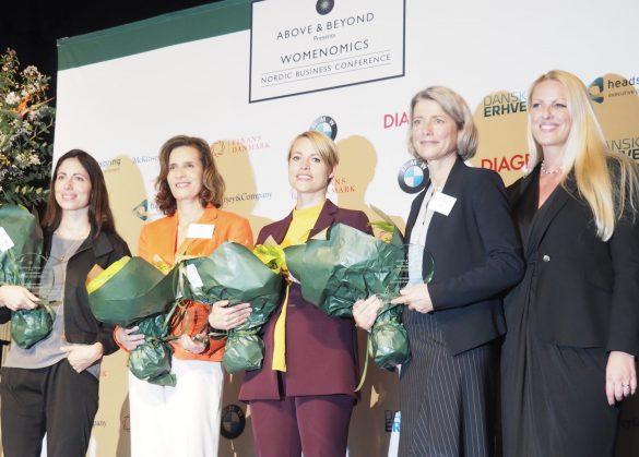 Vinderne af Womenomics Award 2019 blev badet i fotografernes blitzlys. Foto: Trine Askholm