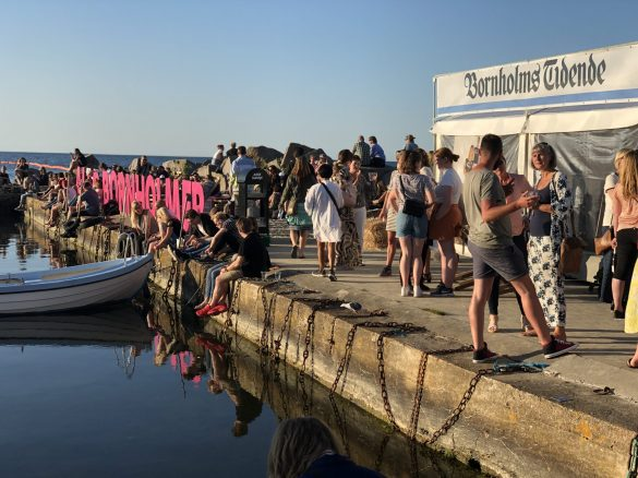 Solskins øen Bornholm viste sig fra sin bedste side fredag d. 14 juni 2019 under Folkemødet.